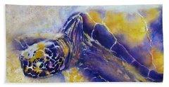 Sunning Turtle Bath Towel