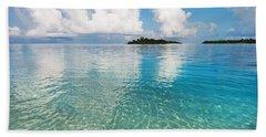 Bath Towel featuring the photograph Sunny Invitation For  You. Maldives by Jenny Rainbow
