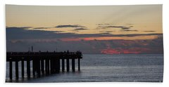 Sunny Isles Fishing Pier Sunrise Hand Towel