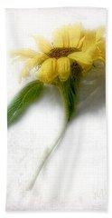 Sunny Sunflower #3 Bath Towel by Louise Kumpf