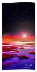 Hand Towel featuring the photograph Sunrise At Fourty Thousand  by Adam Olsen