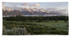 Sunrise At Grand Teton Hand Towel
