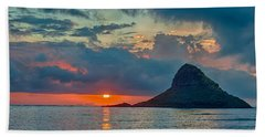 Sunrise At Kualoa Park Hand Towel by Dan McManus