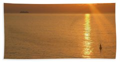 Bath Towel featuring the photograph Sunrise At Sea by Photographic Arts And Design Studio