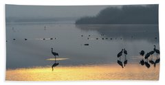 Sunrise Over The Hula Valley Israel 1 Hand Towel