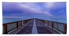 Sunrise At The Panama City Beach Pier Hand Towel