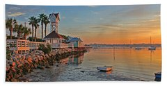 Sunrise At The Pier Hand Towel by HH Photography of Florida