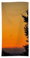 Sunrise Flight Departing Shannon Airport Hand Towel