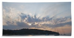Hand Towel featuring the photograph Sunrise by George Katechis