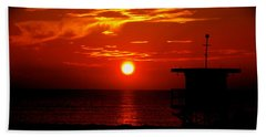Sunrise In Miami Beach Bath Towel