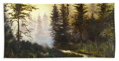 Sunrise In The Forest Bath Towel by Lee Piper