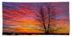 Sunrise In The Sacramento Valley Hand Towel