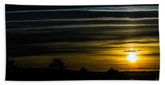 Hand Towel featuring the photograph Sunrise In Virginia by Angela DeFrias
