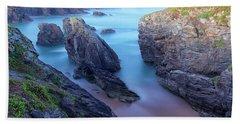 Sunrise In Wild Coast In Quiberon Hand Towel