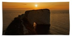 Sunrise Old Harry Rocks Bath Towel
