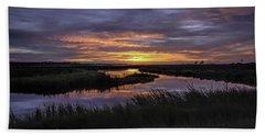 Sunrise On Lake Shelby Bath Towel
