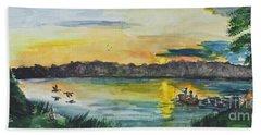 Sunrise On The Lake Bath Towel