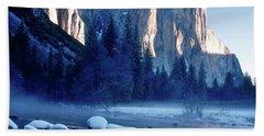 Sunrise On El Capitan Yosemite National Park Bath Towel