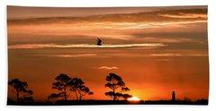 Sunrise Over Fenwick Island Hand Towel