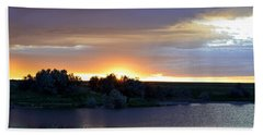 Sunrise Over Kinney Lake Hand Towel