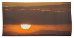 Sunrise Over River Shannon Hand Towel