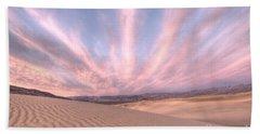 Sunrise Over Sand Dunes Bath Towel by Juli Scalzi