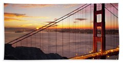 Sunrise Over The Golden Gate Bridge Hand Towel