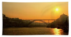 Sunrise Over The River Hand Towel