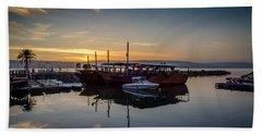 Sunrise Over The Sea Of Galilee Bath Towel