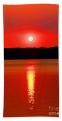 Sunrise Over Whidbey Island Hand Towel