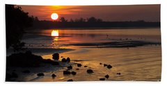 Hand Towel featuring the photograph Sunrise Photograph by Meg Rousher