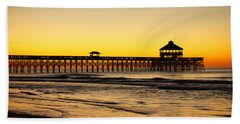 Sunrise Pier Folly Beach Sc Hand Towel