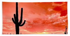 Sunrise Saguaro National Park Bath Towel