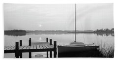 Sunrise Sail Boat Bath Towel