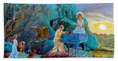 Hand Towel featuring the painting Sunrise Sonata by Henryk Gorecki