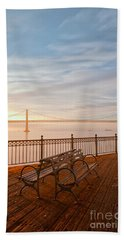 Sunrise To The Bay Hand Towel by Jonathan Nguyen