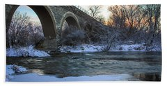 Bath Towel featuring the photograph Sunrise Under The Bridge by Viviana  Nadowski