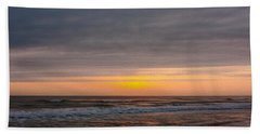 Sunrise Under The Clouds Bath Towel by John M Bailey