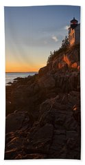 Hand Towel featuring the photograph Sunset At Bass Head   by Priscilla Burgers