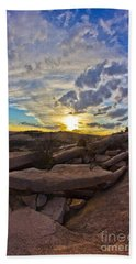 Sunset At Enchanted Rock State Natural Area Hand Towel