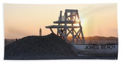 Sunset At Jones Beach Bath Towel