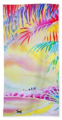 Sunset At Kuto Beach Bath Towel