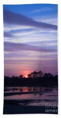 Sunset At Malibu Beach Lagoon Estuary Fine Art Photograph Print Hand Towel