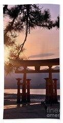 Sunset At Miyajima Bath Towel