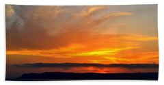 Sunset At Point Loma From Coronado California Bath Towel