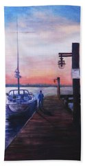 Sunset At Rocky Point Bath Towel by Sher Nasser