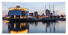 Sunset At The Dock Bath Towel