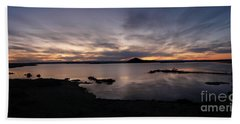 Sunset Over Lake Myvatn In Iceland Bath Towel