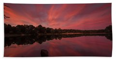 Sunset At The Pond Bath Towel