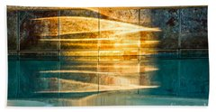 Sunset At The Pool Hand Towel